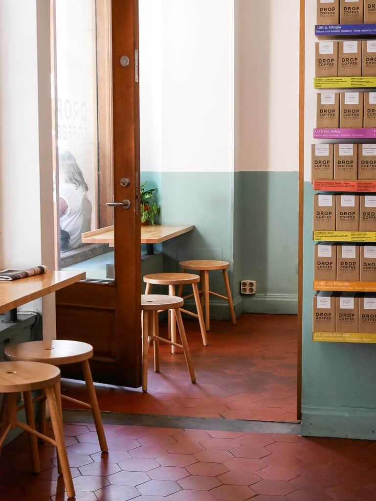 Inside Drop Coffee Stockholm