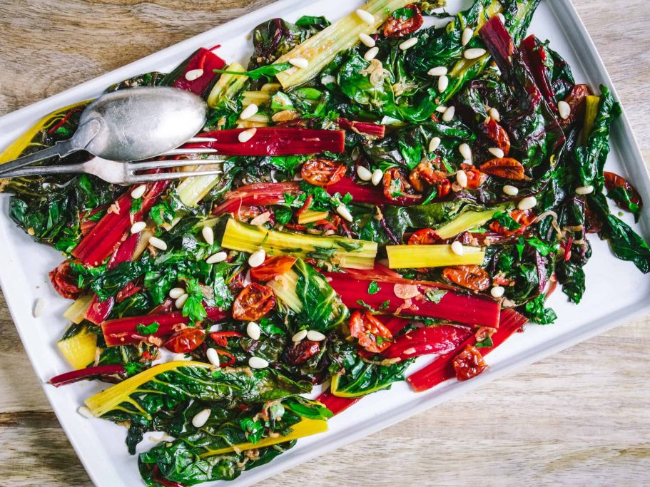 Swiss Chard with Chilli Flakes