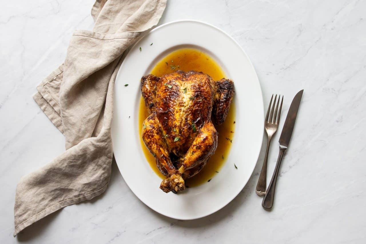 Anchovy Butter Roast Chicken