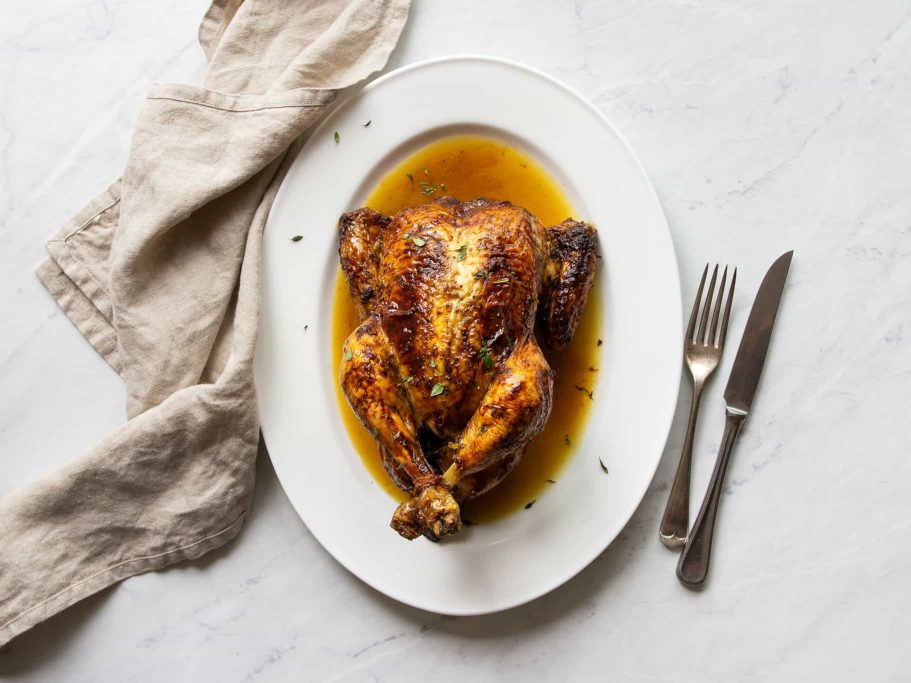 Anchovy Butter Roast Chicken