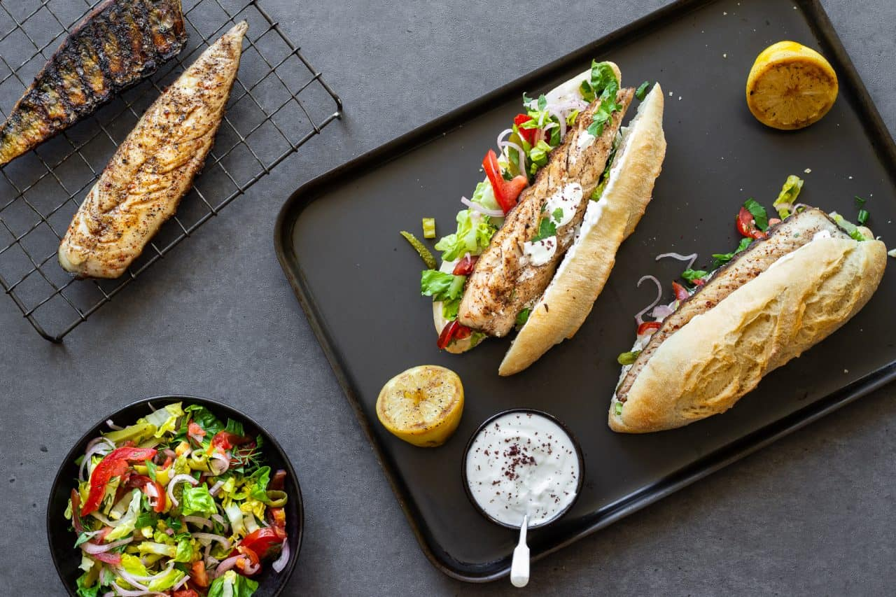 Turkish Mackerel Sandwich (Balik Ekmek)