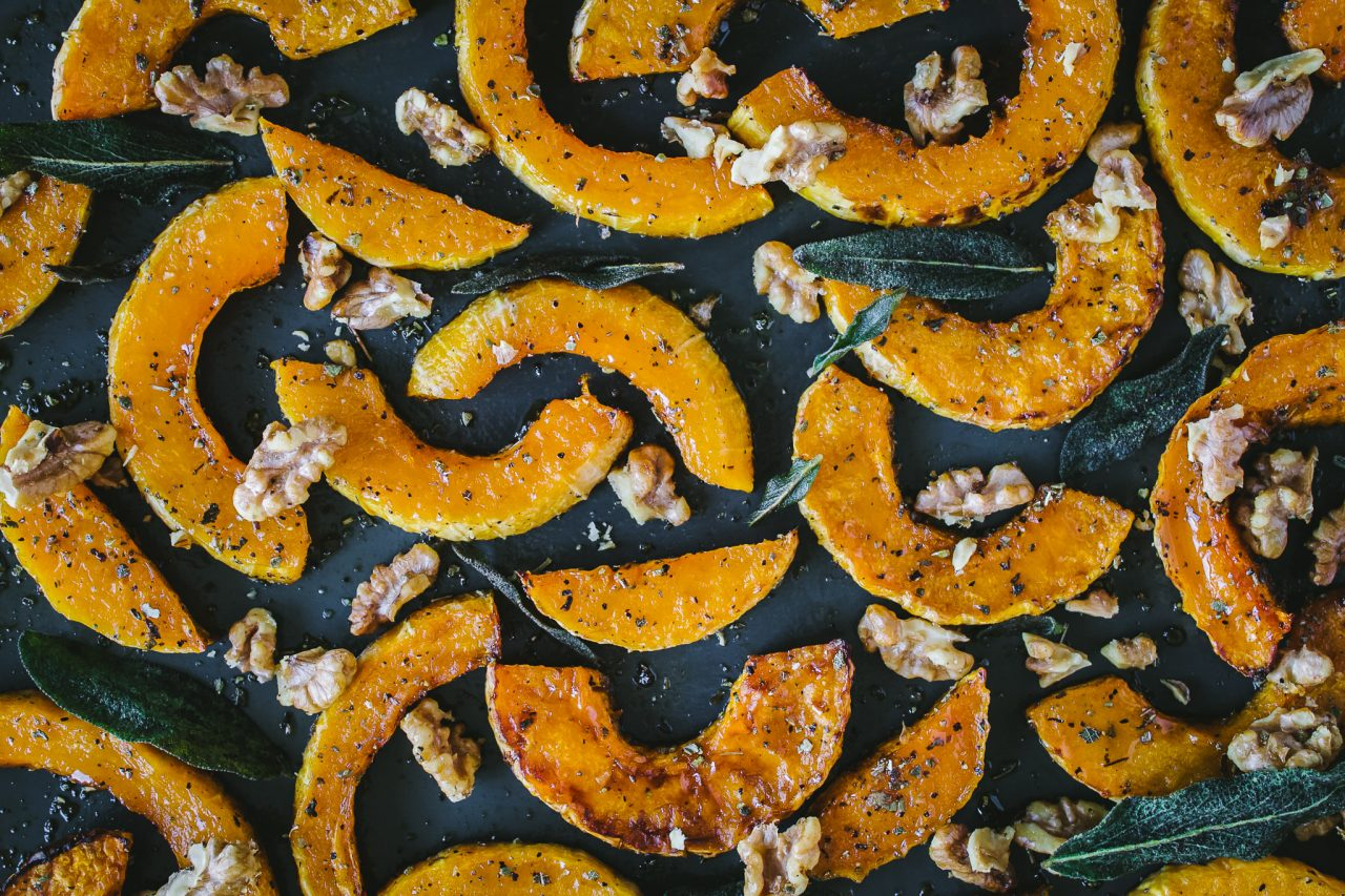 Maple and Sage Roasted Butternut Squash