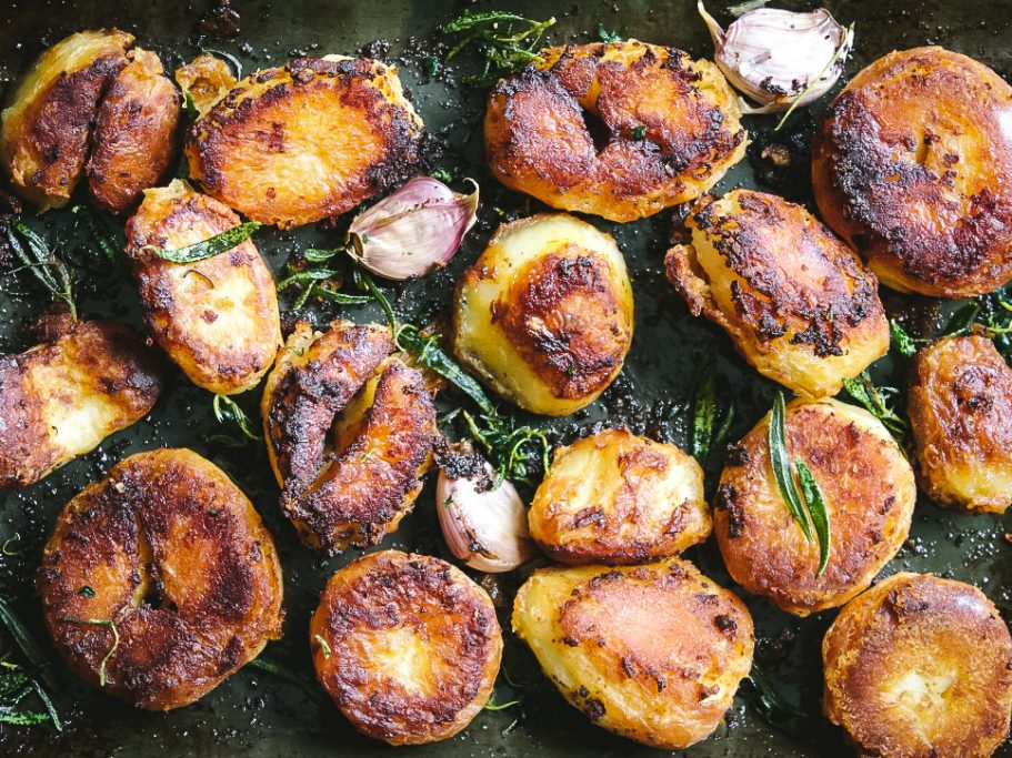 Marmite Roasted Potatoes