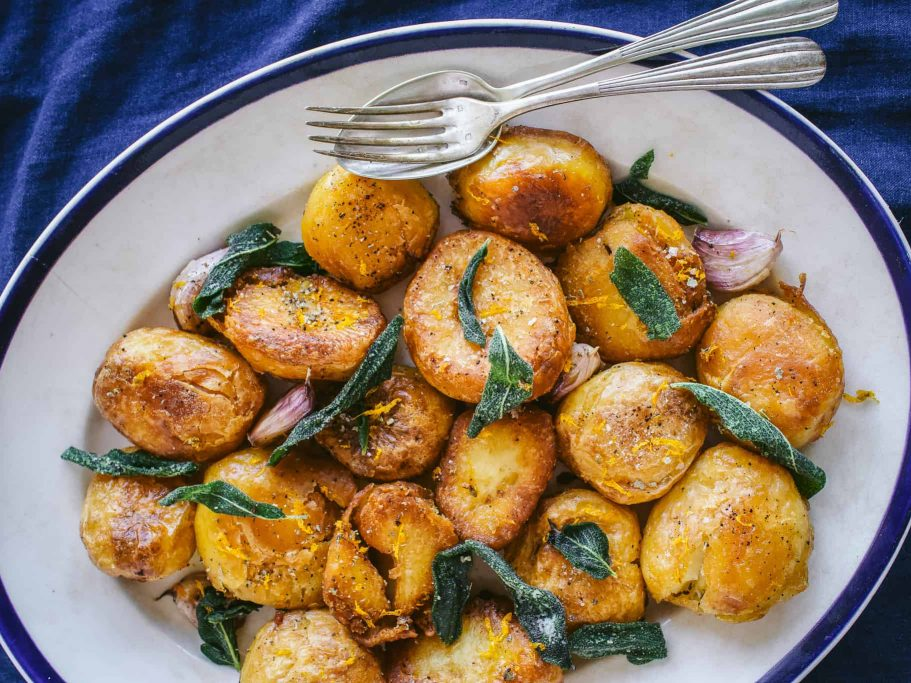 Sage Brown Butter Roast Potatoes