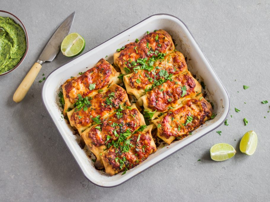 Ancho Chili Chicken Enchiladas