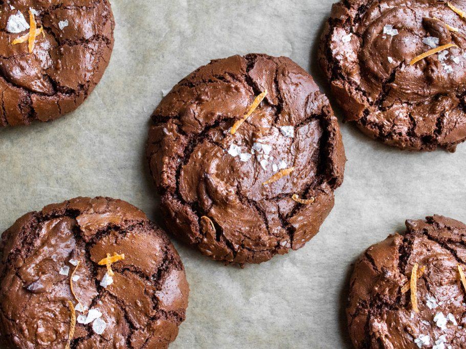 Clementine and Bayleaf Brownie Cookies