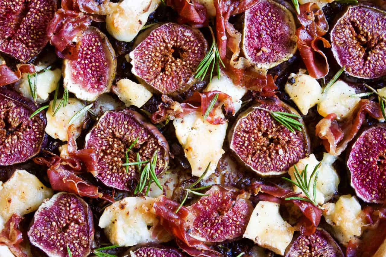 Fig Ham and Goats Cheese Tart
