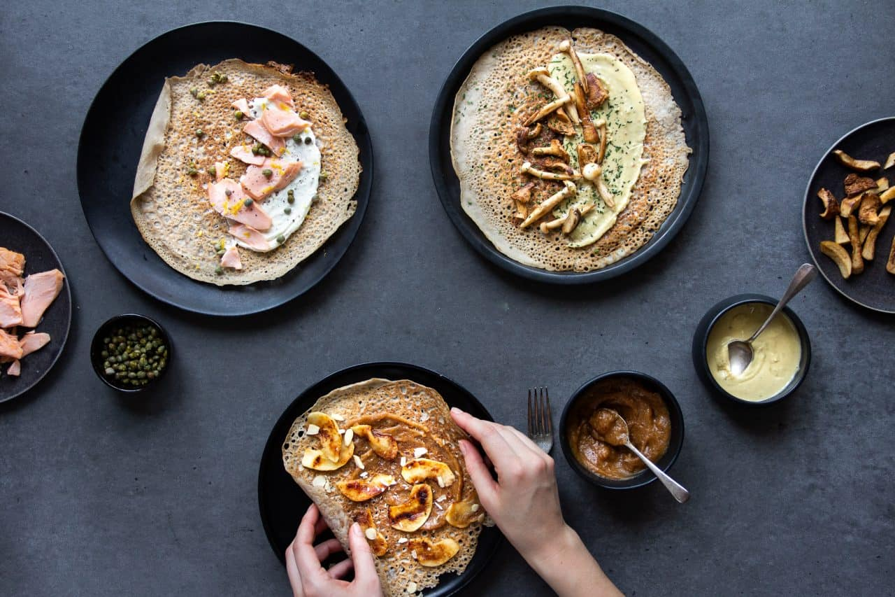 French Buckwheat Pancakes Three Ways