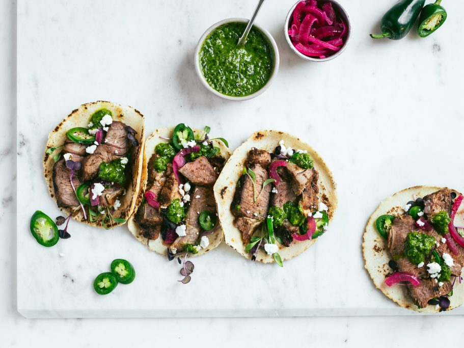Lamb Tacos with Wild Garlic Salsa