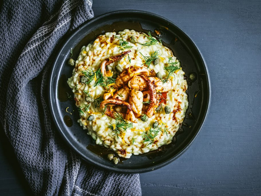 Squid and N'duja Risotto