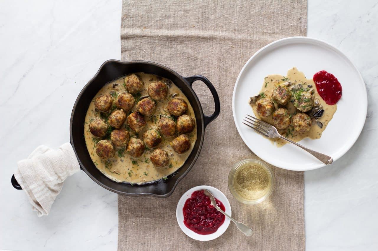 Swedish Meatballs and Mushroom Gravy