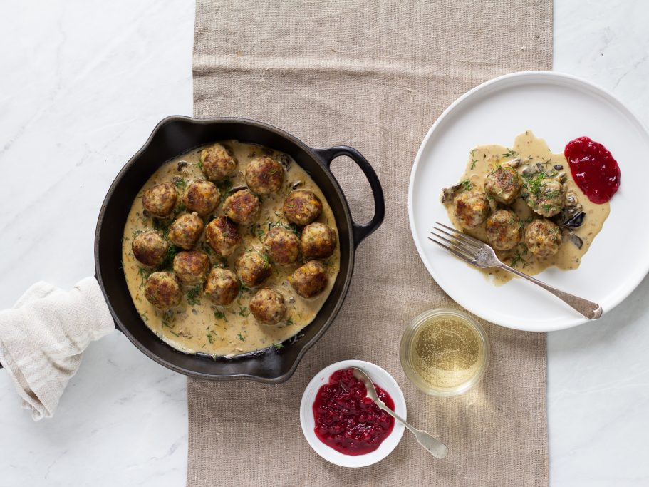 Swedish Meatballs and Mushroom Gravy