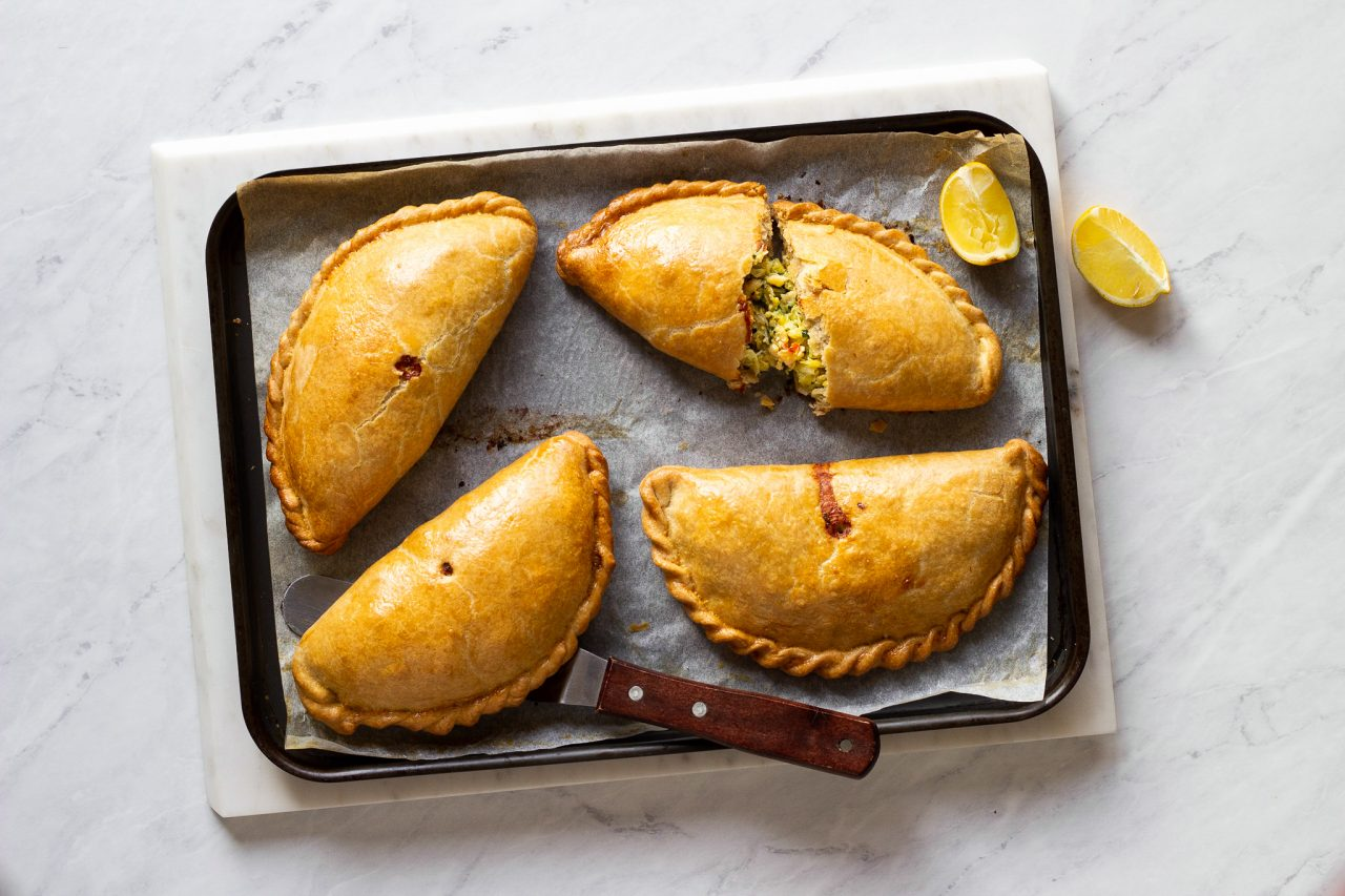 Crab and Saffron Leek Pasty