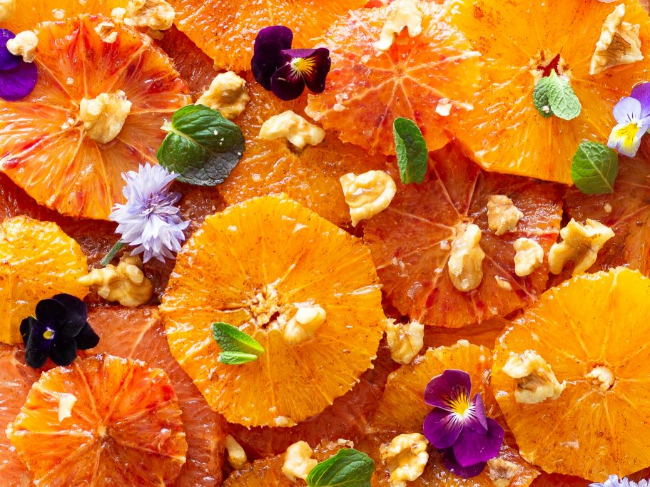 Moroccan Citrus and Walnut Fruit Salad