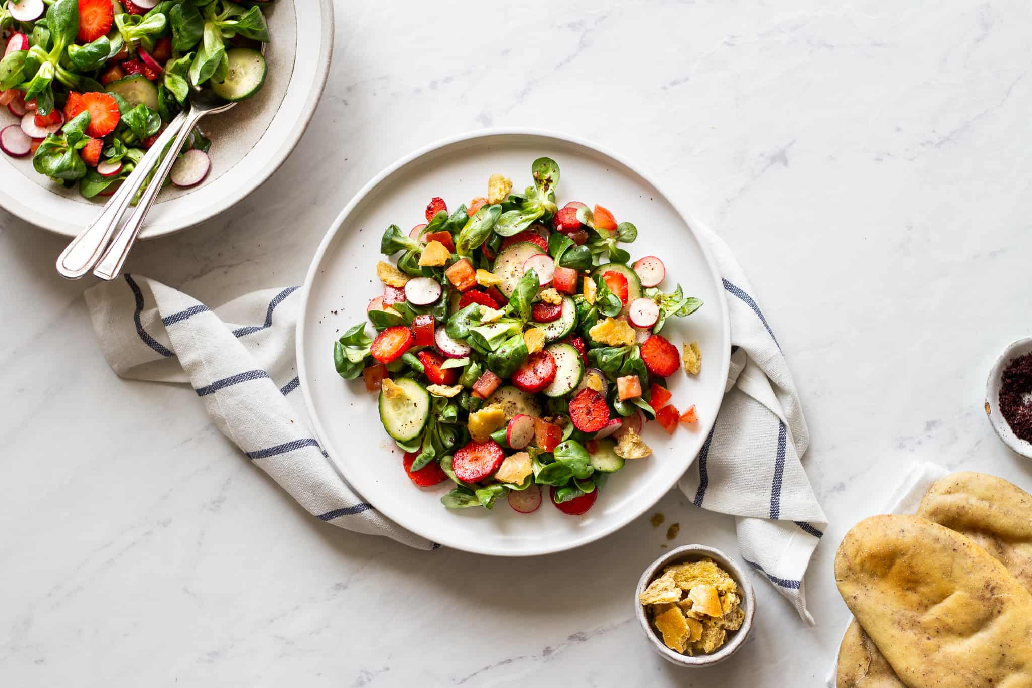 Lebanese Fattoush Salad with Strawberries