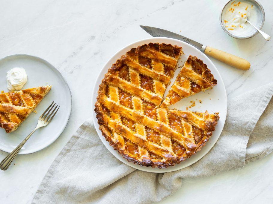 Orange Jam & Caraway Crostata Tart