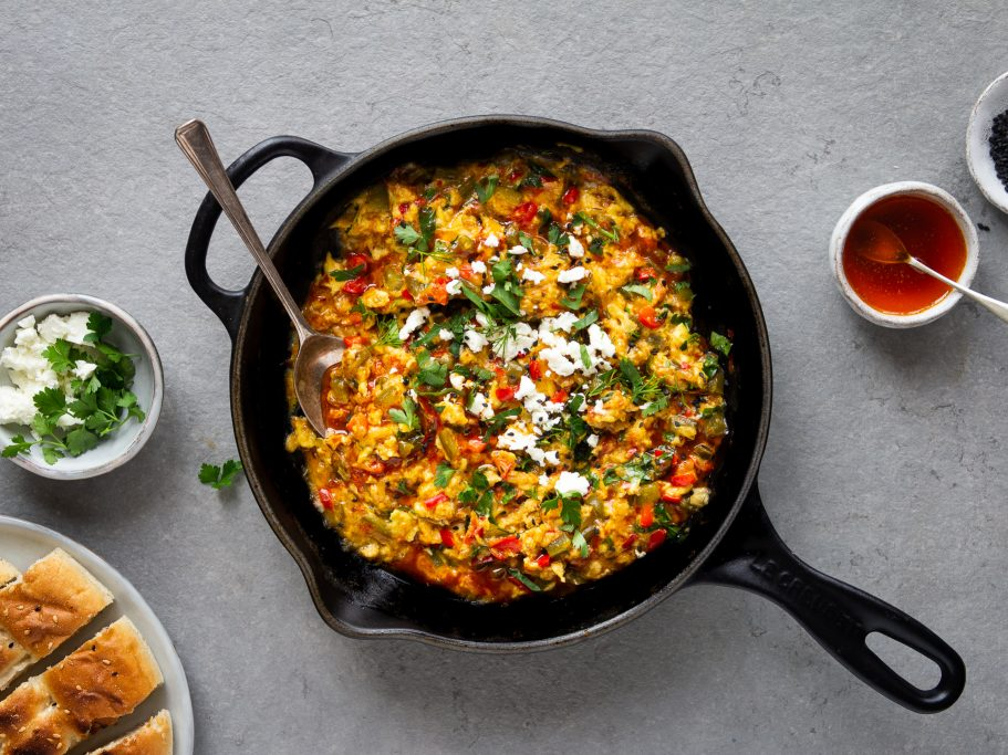 Turkish Scrambled Eggs - Menemen
