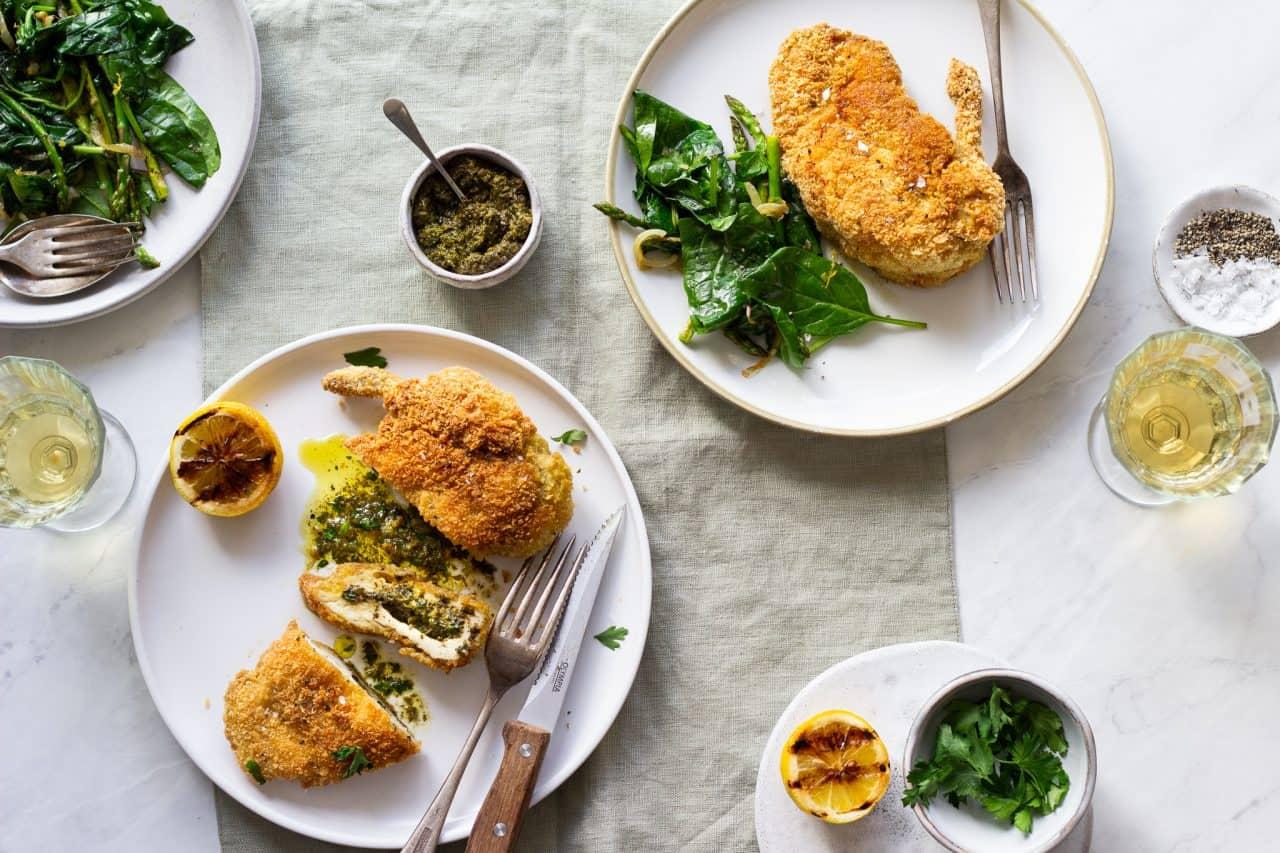 Zhoug Chicken Kiev