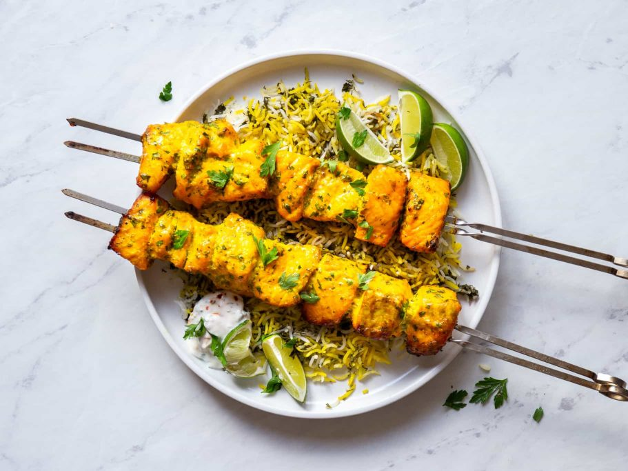 Persian Salmon Kebabs