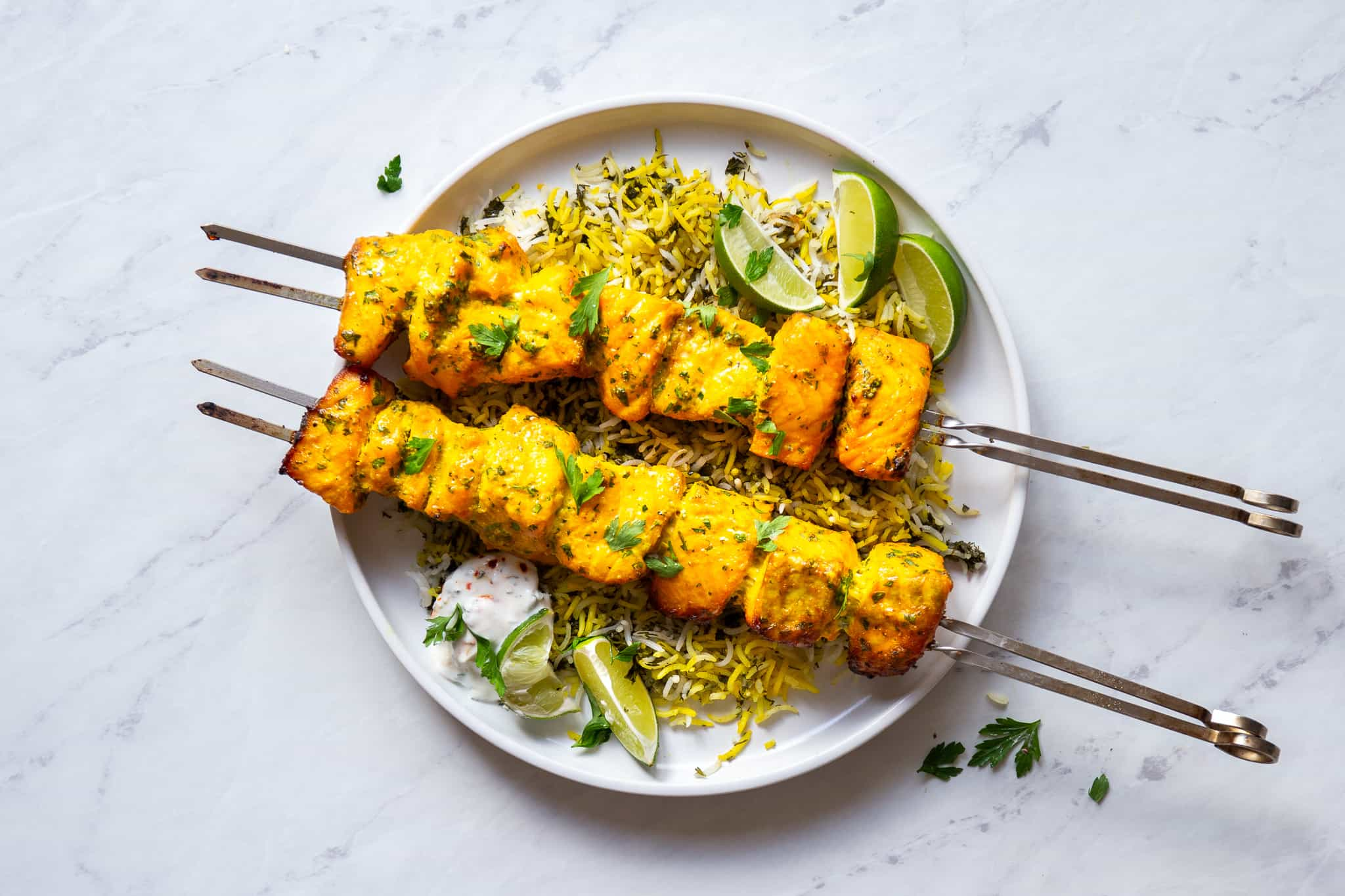 Persian Salmon Kebabs