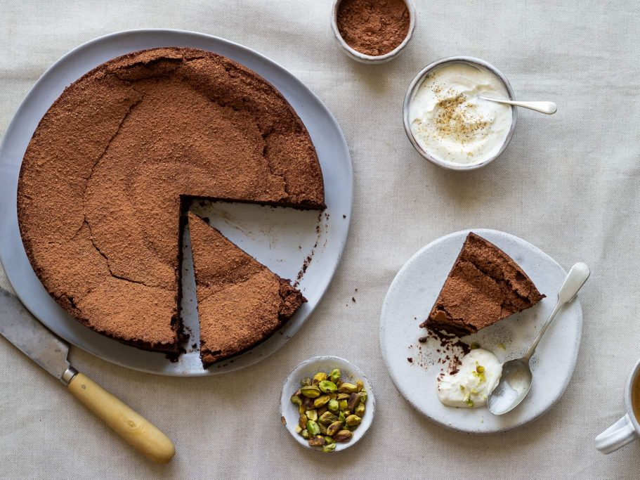 Swedish Chocolate Cake with Cardamom and Coffee