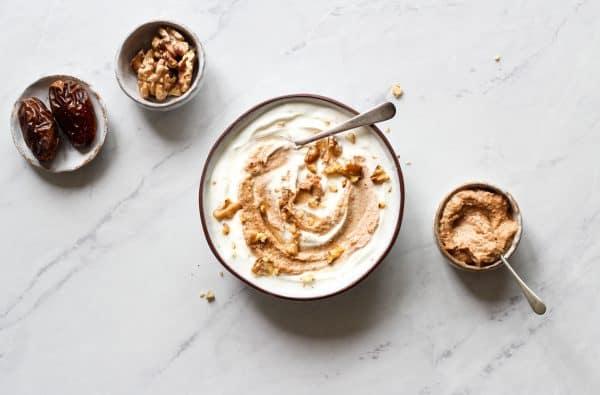 Yoghurt with Date & Walnut Butter
