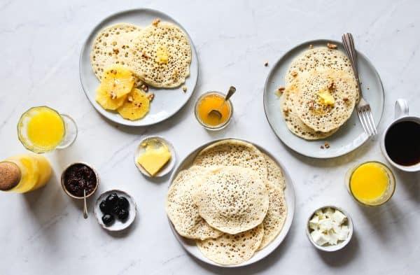 Moroccan Thousand Holes Pancakes - Baghrir